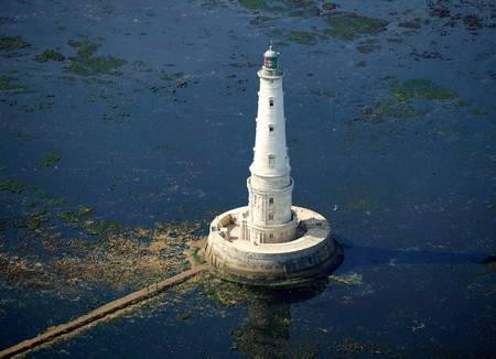 Vue aérienne du phare de Cordouan