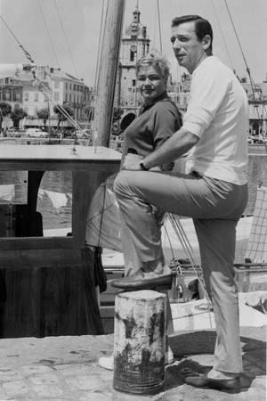 Yves Montand et Simone Signoret à La Rochelle