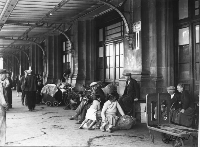 Exode Gare De Bordeaux 1940