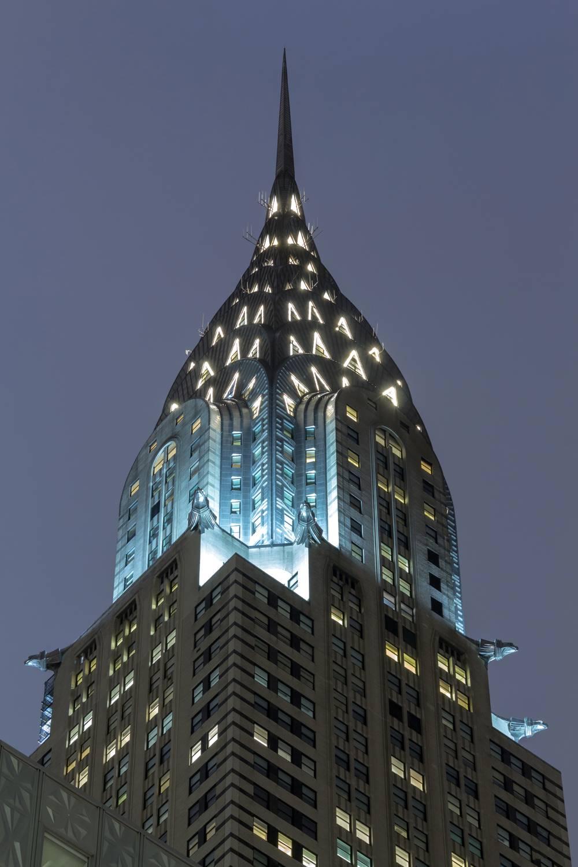 New York Chrysler Building By Night Dominique Richeux Fine Art