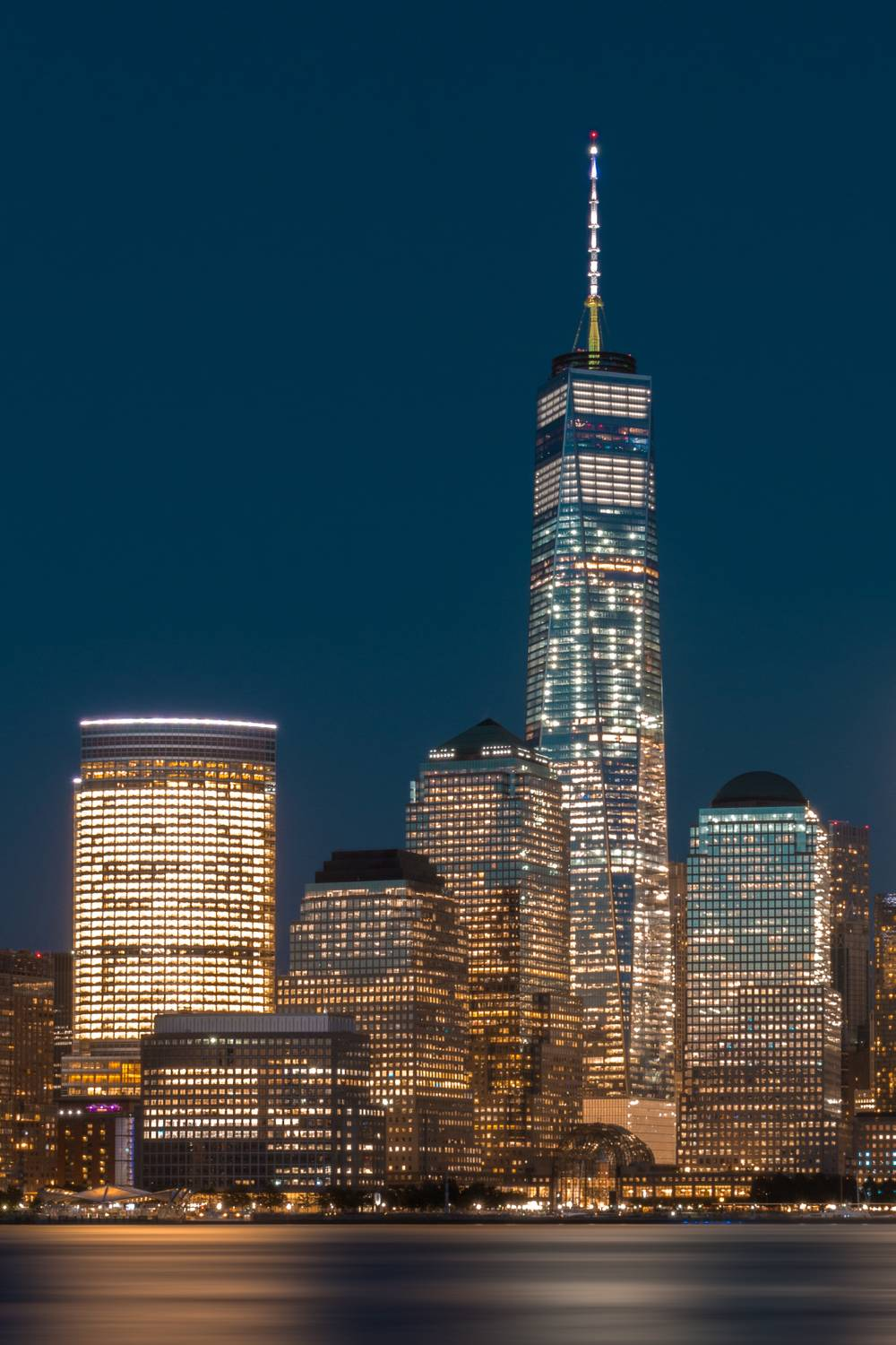 One World Trade Center by Night - Photograph by Dominique Richeux