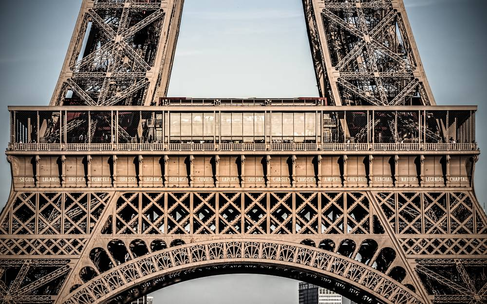 Zoom on the Eiffel Tower - Photograph by Dominique Richeux