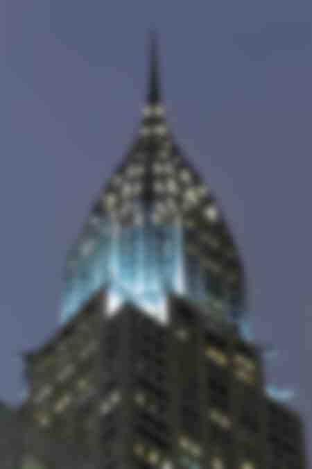 New York Chrysler Building di notte