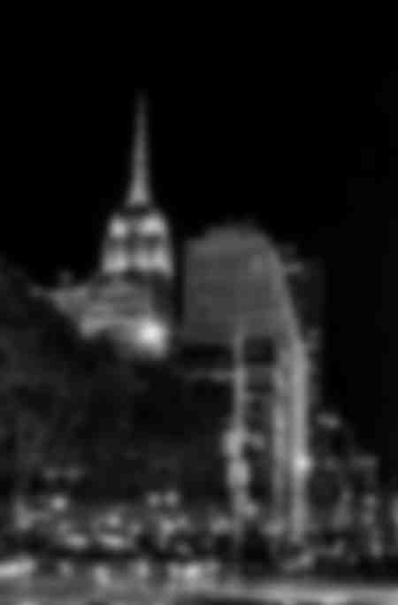 New York City Empire State Building in bianco e nero 2