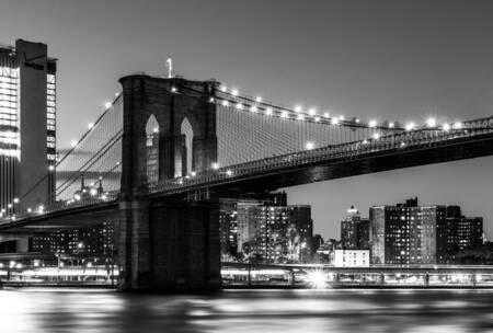 Brooklyn Bridge in Black and White 2