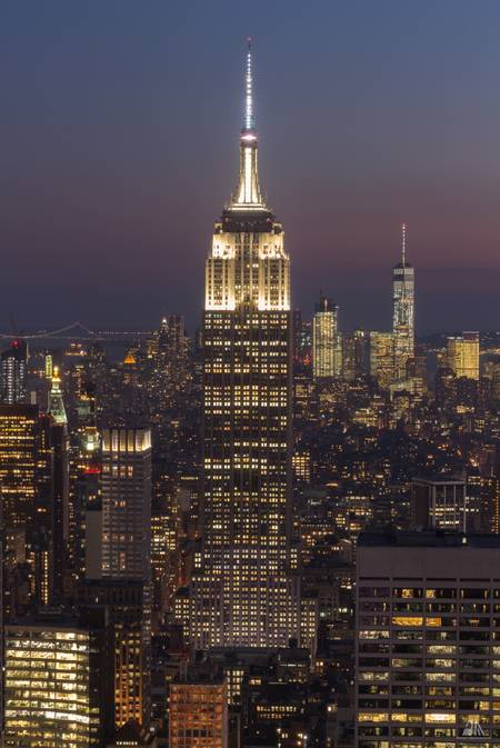 Empire State Building by Night New York