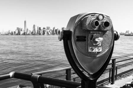Binoculars Observation on Manhattan