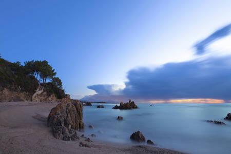 Lever du Soleil sur la Plage Corse de Solenzara