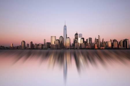 Manhattan At Sunset New York