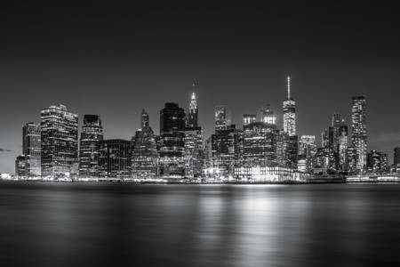 Manhattan Skyline Black and White