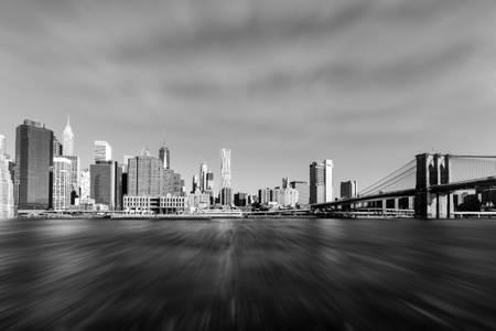 Manhattan Skyline New York Black and White