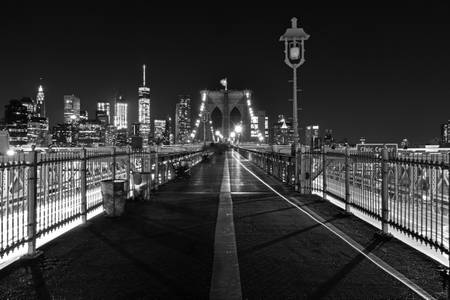 New York Brooklyn Bridge the nuit