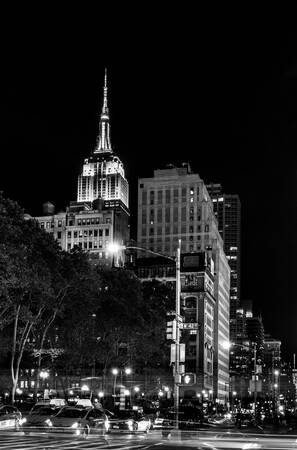 New York City Empire State Building Noir et Blanc 2