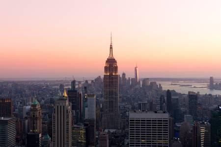 Sunset on Manhattan New York