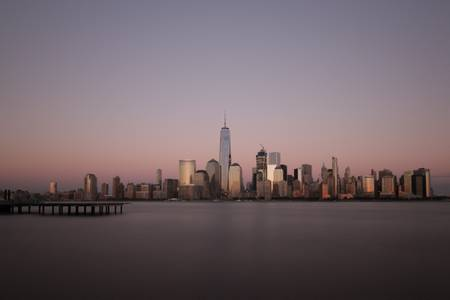 Sunset on the New York City Skyline