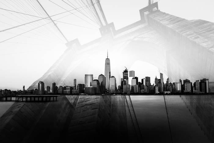 New York Skyline Et Brooklyn Bridge