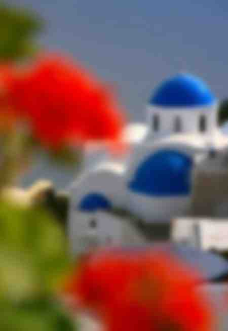 Blue Domes Red Roses