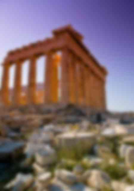 Il Partenone al tramonto