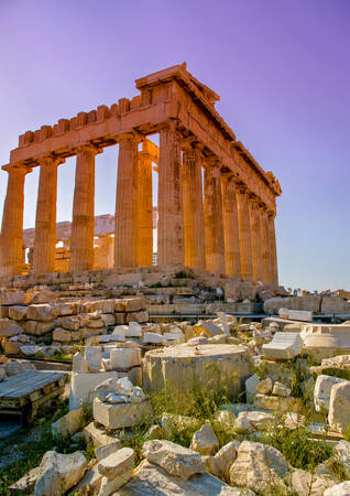 The Parthenon at Sunset
