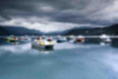 Zonsopgang op het meer van Annecy