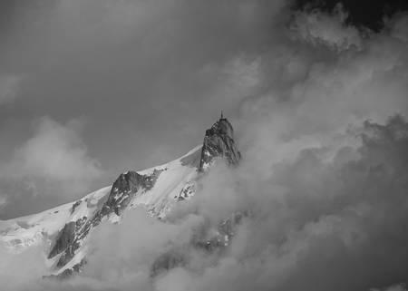 Aiguille du midi macizo del Mont-Blanc