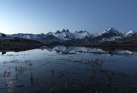 Reflection of the Aiguilles arves