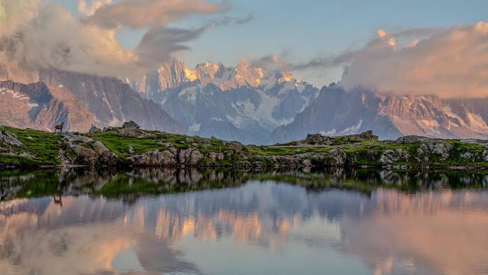 Coucher De Soleil Massif Du Mont Blanc