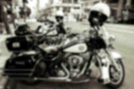 Harley D LA Polizei