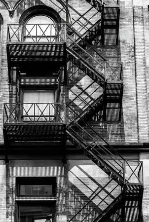 Escalera de fachada