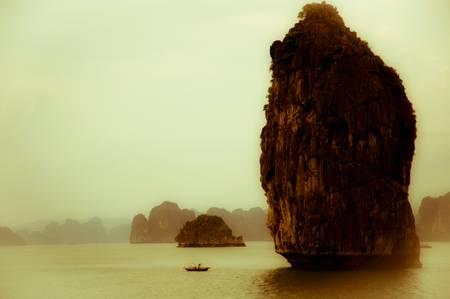 Alone in Halong Bay