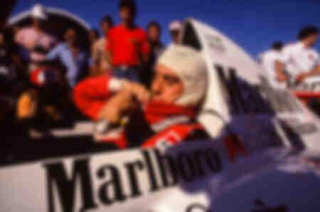 Vorbereitung von Ayrton Senna auf den GP von Brasilien 1988