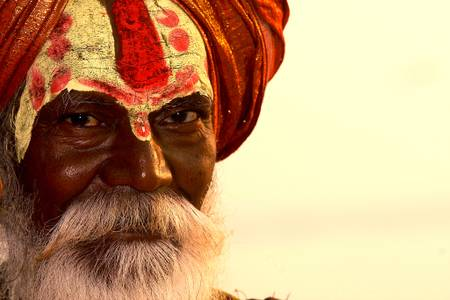 India sadhus festival of lights