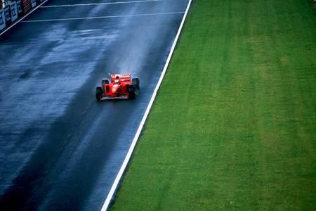 Schumacher en rouge et vert