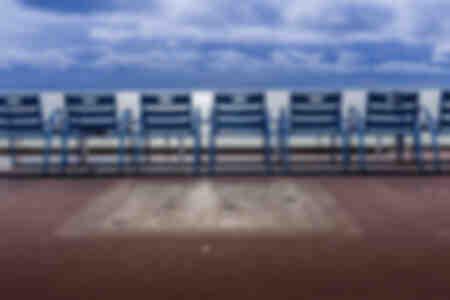 Chaises bleues promenade des Anglais Nice