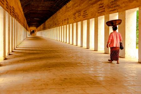 Retour de marche a Bagan