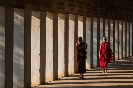 Jeunes moines au Myanmar