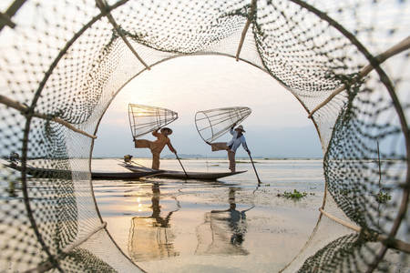 Inle Lake Fishermen 2