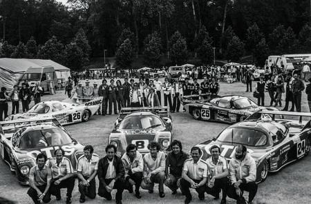 24 Heures du Mans 1981. L'écurie RONDEAU au complet.