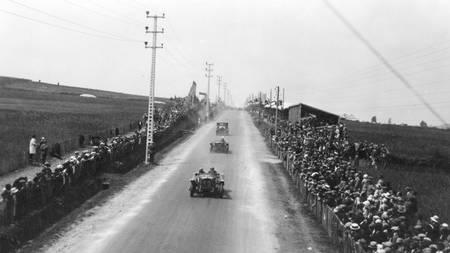 Course automobile à Saint Brieuc en 1927