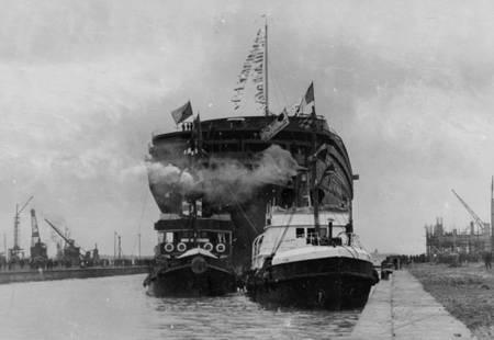 Eintrag des Linienschiffs Normandie in das Ecluse-Formular im Jahr 1932.