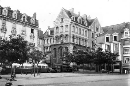 Gare routière d'Angers en 1951