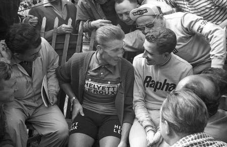 Jacques Anquetil et Roger Rivière sur le Tour 1959