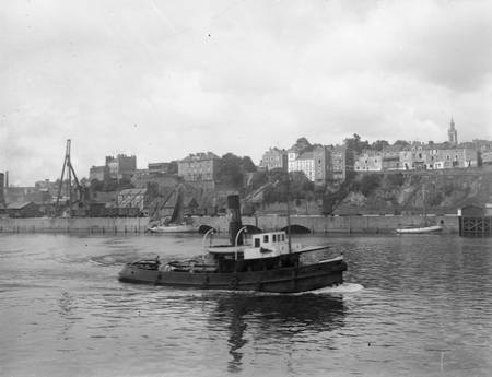 The Loire in Nantes in the 1950s