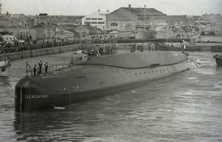 Launch of the submarine Le Redoutable in 1967