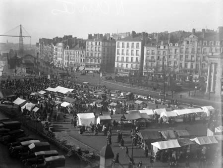 Nantes - marché dans les années 1950