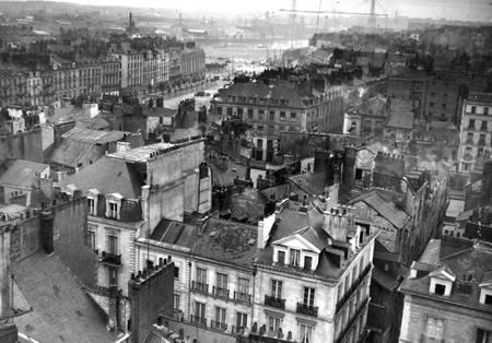 Nantes vue aérienne du centre ville