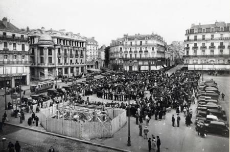 Place du ralliement à Angers en 1936