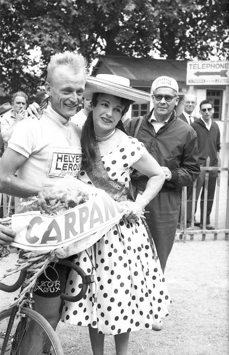 Yvette Horner et Jean Graczyk sur le Tour 1960