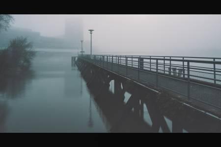 A pontoon in the mist