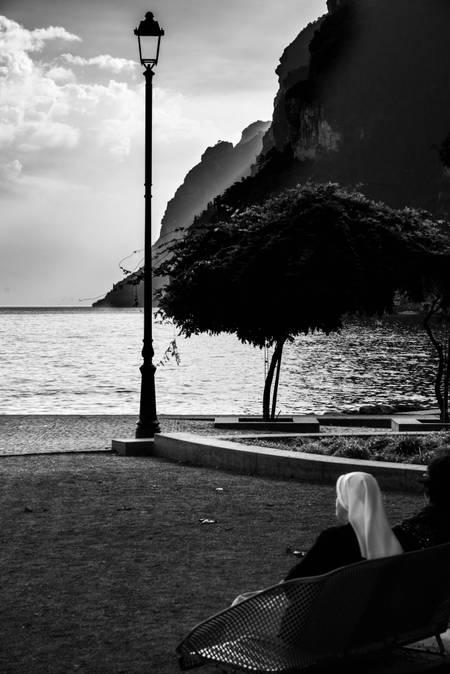 A nun and the lake